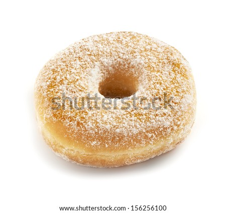 fresh and delicious tasting donut on a white background with a soft shadow  - stock photo