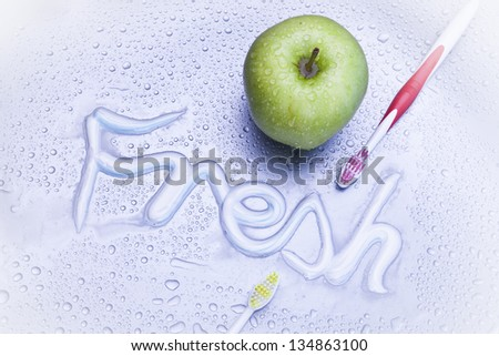 fresh and healthy background - stock photo