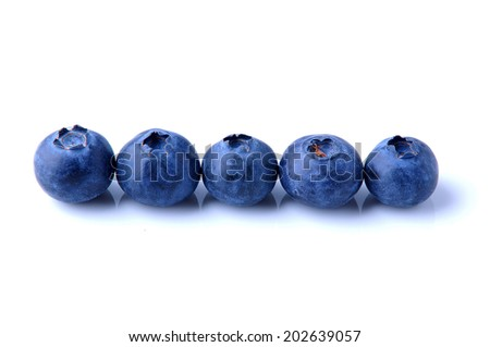 fresh and juicy blueberry
