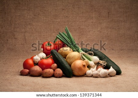 fresh and organic vegetables - stock photo