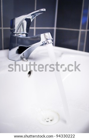 Fresh and pure water - stock photo