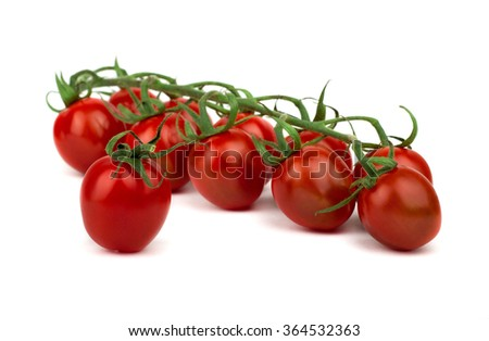 Fresh and ripe cherry tomatoes