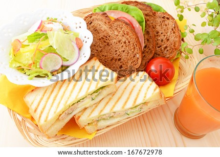 Fresh and tasty breakfast - stock photo