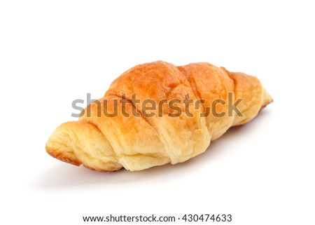 Fresh and tasty croissant isolated on white background