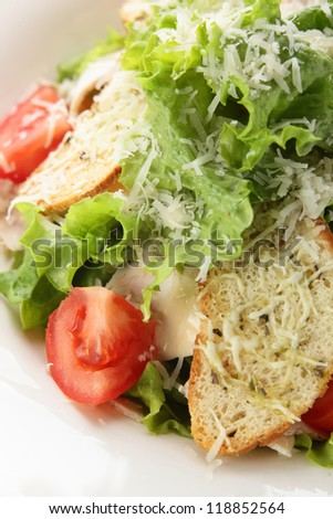 fresh and tasty salad with pepper and tomato