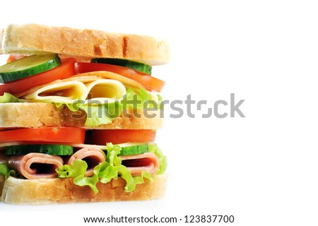Fresh and tasty sandwich close up - stock photo