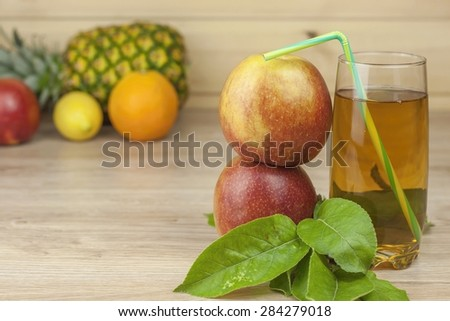fresh apple juice, cool summer refreshment, diet drink with vitamins