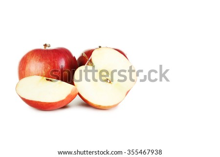 Fresh apples isolated on a white - stock photo