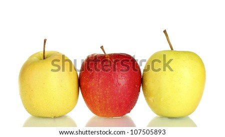 Fresh apples isolated on white