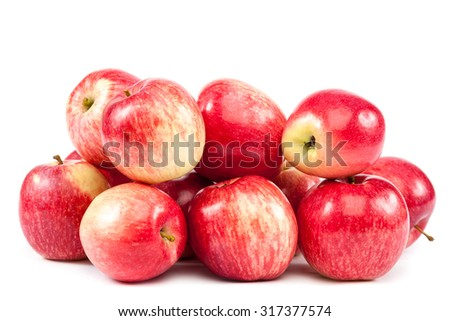 Fresh apples isolated on white background. - stock photo