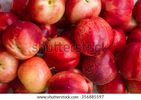Fresh apples red color sweet and crispy