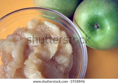 Fresh Applesauce 2 - stock photo