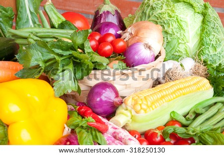 Fresh assorted vegetables - stock photo