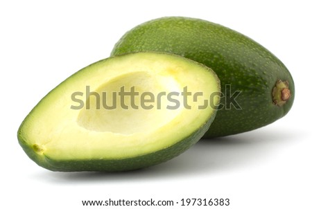 Fresh avocado fruit isolated on white background