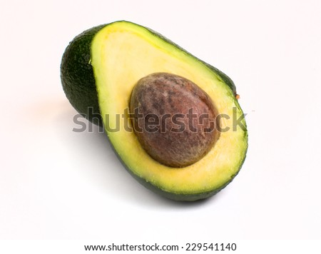 fresh avocado on a white background