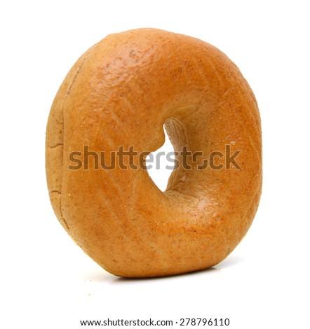 Fresh Bagel Isolated on a White Background - stock photo