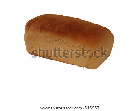 Fresh Baked Bread isolated on white - stock photo