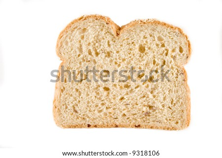 fresh baked bread sliced isolated over white background