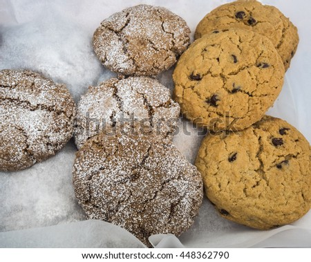 Fresh baked cookies at farm market.