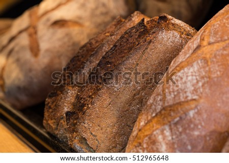 fresh baked mixed breads