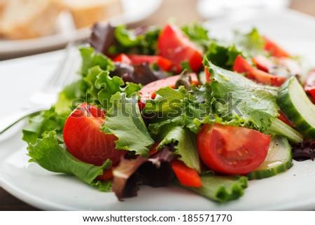 Fresh Balsamic & Vinegar Salad - stock photo