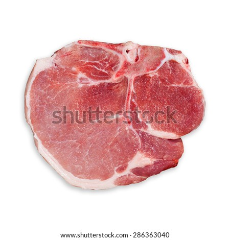 fresh beef pork rib white background, Clipping path.