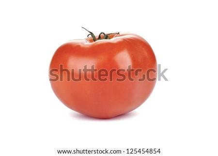 Fresh Beefsteak tomato over the white background - stock photo