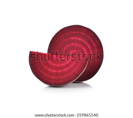 Fresh beetroot isolated on white background - stock photo
