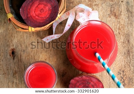fresh beetroot with juices - stock photo