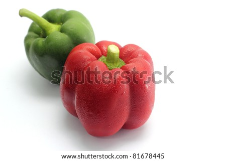 fresh bell pepper on a white background