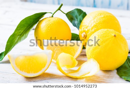 Fresh bergamot citrus fruits from Reggio Calabria Italy.