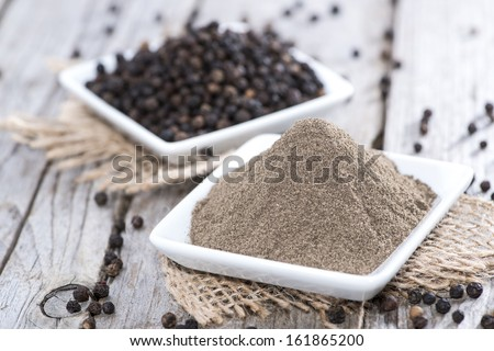 Fresh Black Pepper (studio shot) - stock photo