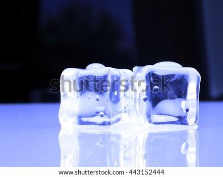 Fresh Blue Ice cubes - stock photo