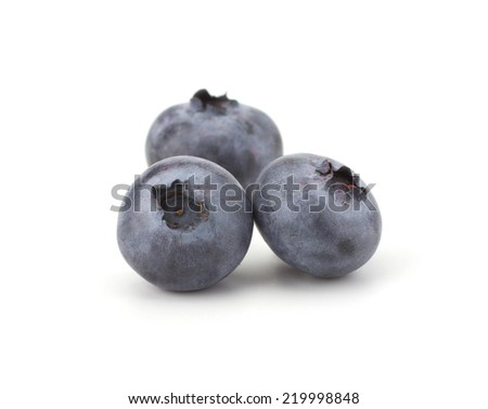 Fresh blueberries isolated on white background - stock photo