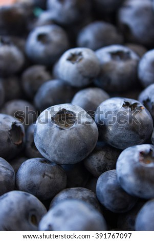 Fresh blueberries, selective focus.