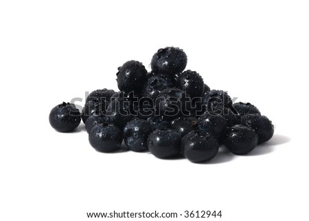 fresh blueberries with water drops