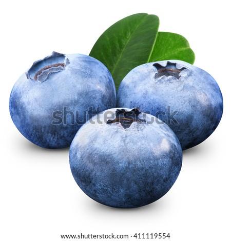 Fresh Blueberry isolated on white background - stock photo