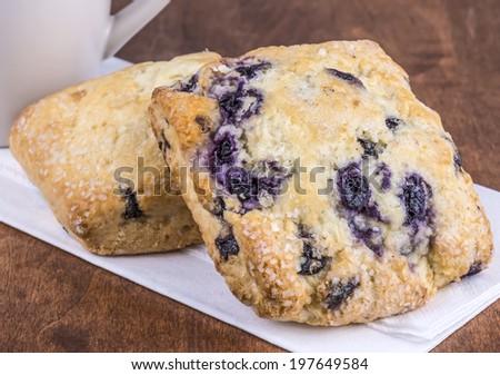 Fresh Blueberry Scones - stock photo
