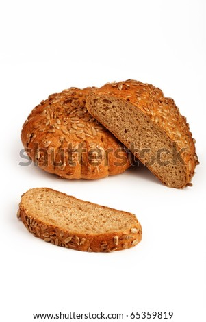 Fresh bread and bakery - stock photo