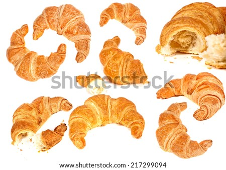 fresh bread and wheat  - stock photo