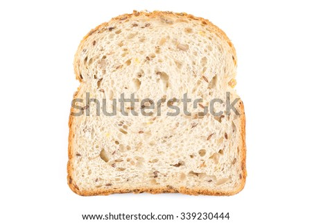 fresh bread isolated on a white background - stock photo