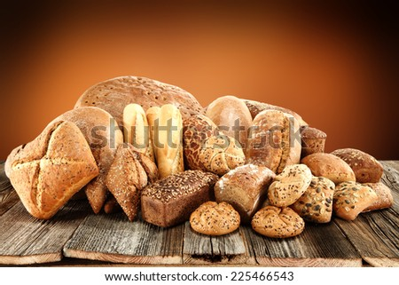 fresh bread of brown and brown wall space