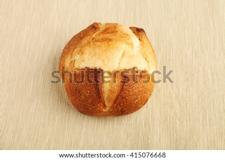 Fresh bread on the table - stock photo