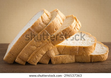 fresh bread on the wooden.