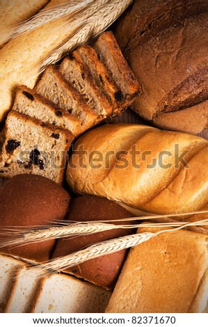 Fresh bread still life