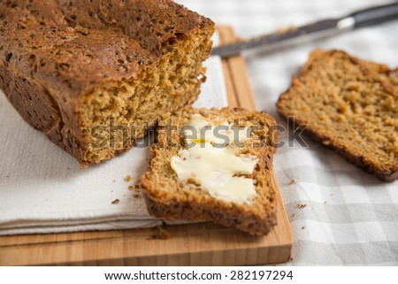 Fresh bread with carrots