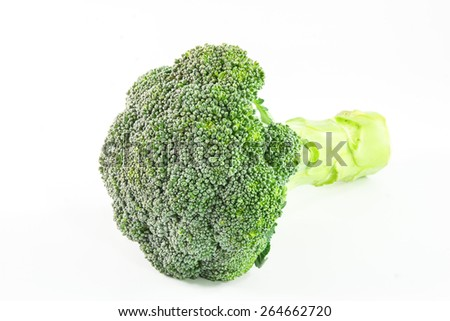Fresh broccoli cabbage on a white background - stock photo