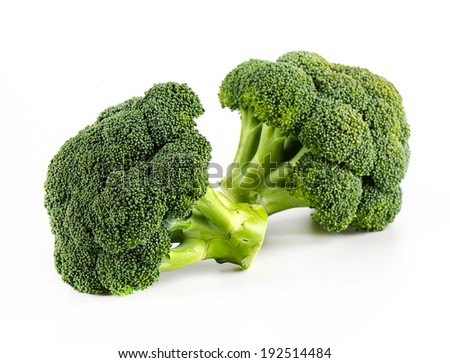 Fresh broccoli isolate on white background - stock photo