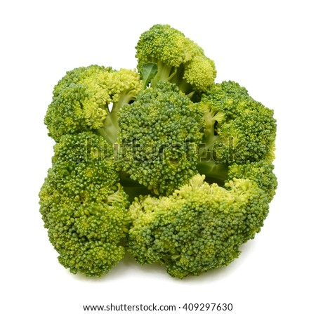 Fresh Broccoli vegetable isolated on white background - stock photo