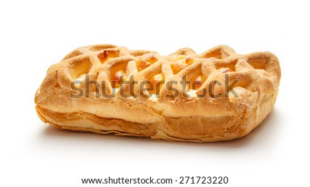 Fresh bun with cheese on the background